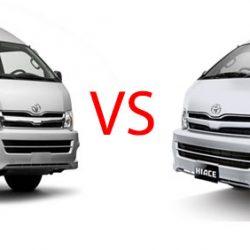 perbedaan toyota hiace commuter dan hiace standart